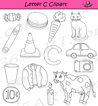 Letter C Clipart Graphics - For Commercial-Use