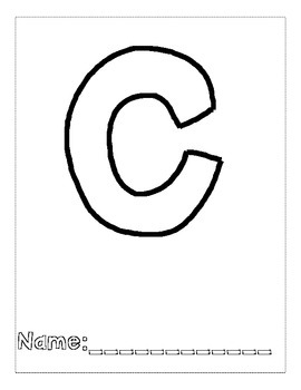 Letter C Color and Trace AlphaBook