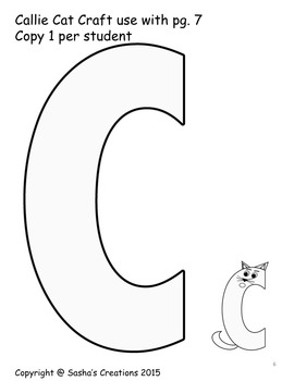 Letter C Craft: Callie Cat Alpha Pal