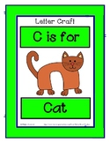 Letter C Craftivity - Cat - Zoo Phonics Inspired - Color &