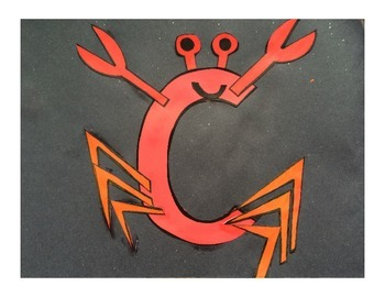 Letter C Cut/Paste Craft Template - C is for Crab