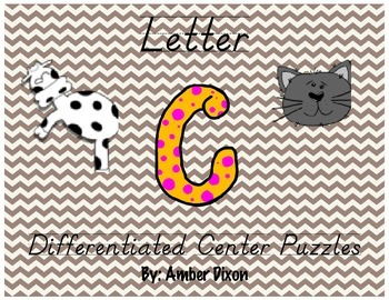 "Letter ""C"" Differentiated Puzzles"