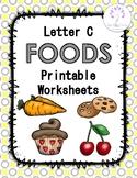Letter C Foods Printable Worksheets