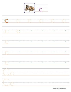 Letter C Handwriting and Recognition Practice