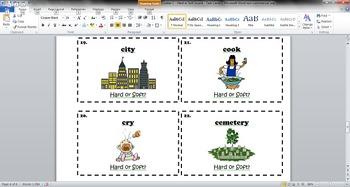 Letter C - Hard or Soft Sound - Phonics Task Cards