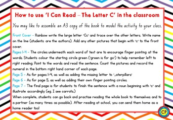 Letter C - I Can Read Booklet for Early Reading Skills
