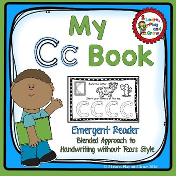 "Letter C ""I can read"" booklet for letter recognition, rhyming, and more."