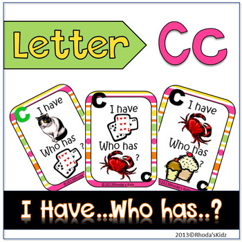 "Letter C  ""I have... Who has?"""