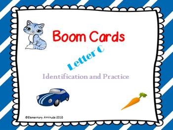 Letter C Identification Interactive Task Cards Boom Cards with Sound