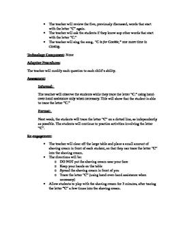 Letter C Lesson Plan
