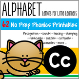 Alphabet C Letter of the Week Phonics Recognition, Sound, Tracing & Craftivities