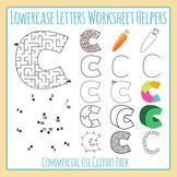 Letter C (Lowercase) Worksheet Helper Clip Art Set For Commercial Use