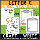 Letter C One Page Paper Crafts - Cat and Caterpillar