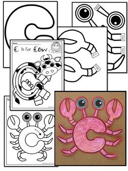 Pre-KG Alphabet Worksheets- LETTER Cc Printables- Tracing, coloring, recognition
