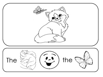 Letter C Picture Sentences for PECS or Early Readers