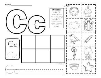 letter c picture sort initial sound by miss zees. Black Bedroom Furniture Sets. Home Design Ideas