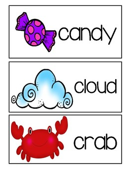 Letter C - Picture Word Cards