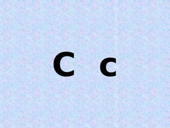 Letter C PowerPoint Presentation