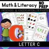 Letter C Math & Literacy Alphabet Activities NO PREP {Color & BW set included}