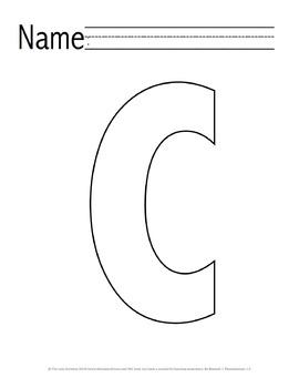 Letter 'C' Pre-K Packet