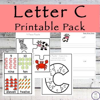 Letter C Printable Pack