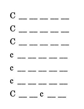 Letter C Recognition Draw a Line Match Trace Color Pick-out