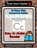 Letter C - 'So Many Ways' Reader - #DollarDeals - 5 pages   *o
