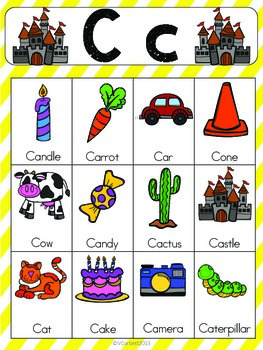2 letter words with c letter c vocabulary cards by the tutu teachers 20028 | original 2130457 2