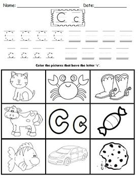 Letter C Worksheets!