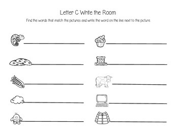Letter C Write the Room