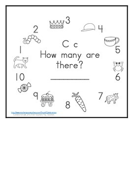 Letter C Counting Books