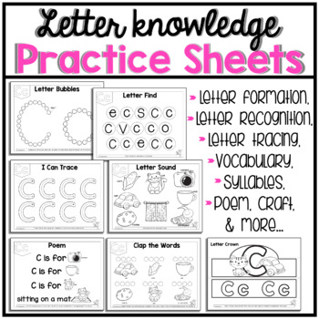 C Letter of The Week activity pack