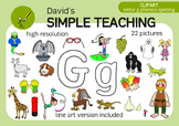 Letter G phonics - spelling clipart with free preview