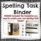 Letter Card Word Builder Activity-- Binder set-up instruct