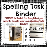 Spelling Task Activity-- Binder set-up instructions and te