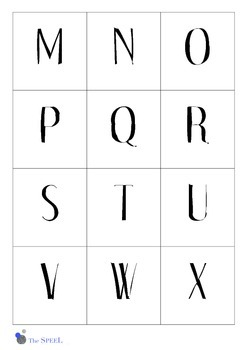 Letter Cards 3 - upper and lower case