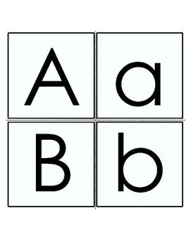 Letter Cards A - Z