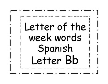 Letter Cards Bb
