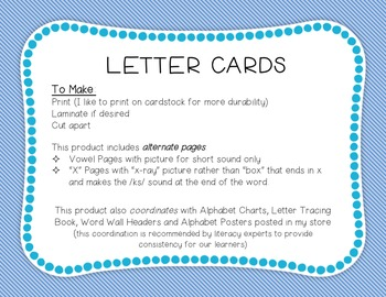 Letter Cards: Blue and Green Stripes
