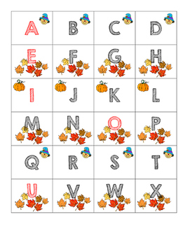 Letter Cards: Fall Theme
