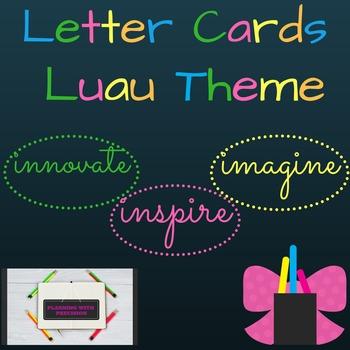 Letter Cards Luau Theme