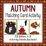 Letter Cards Matching-Autumn Themed