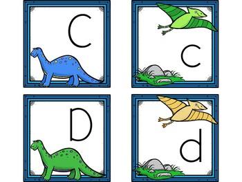 Dollar Deals! Letter Cards Matching-Dinosaur Themed