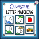 Letter Cards Matching-Dinosaur Themed