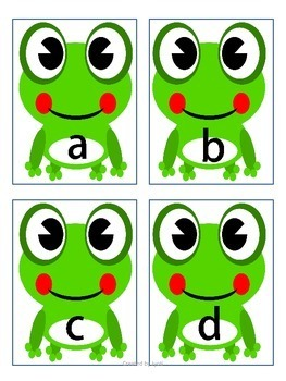 Letter Cards - Matching Game Frog