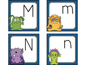 Dollar Deals! Letter Cards Matching-Monster Themed