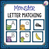 Letter Cards Matching-Monster Themed