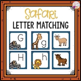 Dollar Deals! Letter Cards Matching-Safari Themed