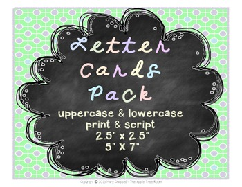 Letter Cards Chalkboard Theme