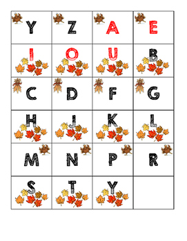 Letter Cards: Thanksgiving Theme